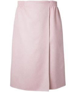 Agnona | Wrap Skirt 40 Silk/Cashmere/Wool