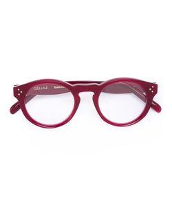 Céline Eyewear | Bevel Round Optical Glasses Acetate