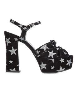Saint Laurent | Candy 80 Bow Sandals 40 Suede