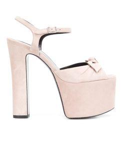 Saint Laurent   Betty 80 Bow Sandals 37 Suede