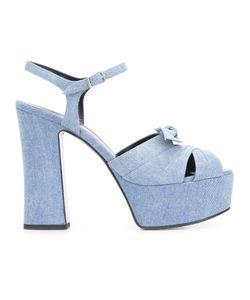 Saint Laurent | Candy 80 Bow Sandals 37.5 Leather/Cotton