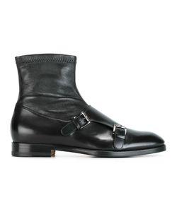 Santoni | Monk Strap Boots 38.5 Calf Leather/Leather