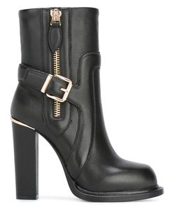 GIANNI RENZI | -Tone Zipped Ankle Boots 40 Leather/Rubber