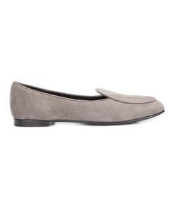 Giorgio Armani | Flat Round Loafers 36 Suede/Leather