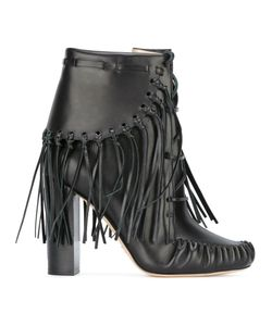 Elie Saab | Fringed Ankle Boots 36 Leather/Rubber