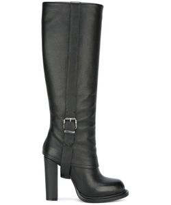 GIANNI RENZI | Buckled Detailing Boots 38.5 Leather