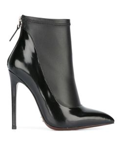 GIANNI RENZI | Contrast Pointed Ankle Boots 35 Leather/Patent