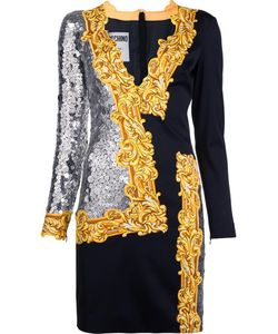 Moschino | Long Sleeve Sequin Mirror Dress 40 Rayon/Other