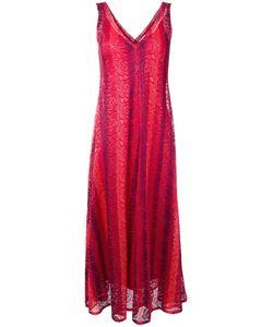 SCANLAN THEODORE | Stripe Lace Dress 6 Polyester