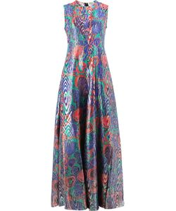 Maison Rabih Kayrouz | Abstract Print Sleeveless Dress 38 Silk/