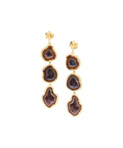 KIMBERLY MCDONALD | 18kt Diamond And Geode Earrings
