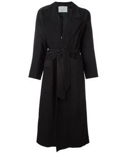 CAROLINARITZ | Open Belted Coat 38 Wool/Spandex/Elastane/Acetate