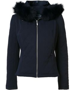 Magaschoni | Zipped Hooded Jacket 6 Fox Fur/Nylon/Spandex/Elastane