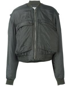 Katharine E Hamnett | Katharine Hamnett Patch Pocket Bomber Jacket Large Silk