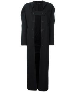 Yohji Yamamoto   Open Front Buttoned Coat Small Cupro/Wool/Acrylic/Rayon