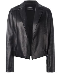 Anthony Vaccarello | Open Front Leather Jacket 38 Lamb