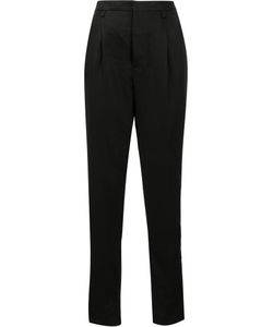 Saint Laurent | Tailored Tapered Trousers 36 Cotton/Linen/Flax