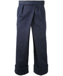 FAD THREE | Front Pleat Cropped Trousers Small Cotton/Polyurethane