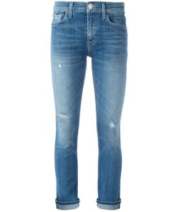 Hudson | Distressed Cropped Jeans 31 Cotton/Polyester/Spandex/Elastane