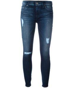 Hudson | Distressed Skinny Jeans 30 Cotton/Rayon/Polyester/Spandex/Elastane