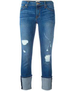 Hudson | Distressed Ankle Cuff Jeans 26 Cotton/Spandex/Elastane/Tencel