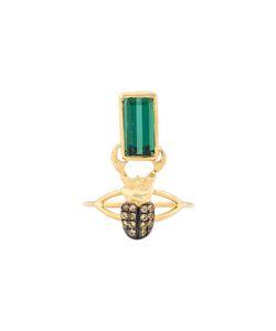 DANIELA VILLEGAS | Kephri Golden Sapphire Tourmaline Ring 44.2
