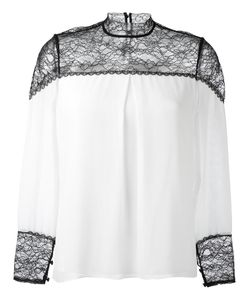 Alice + Olivia | Keagan Blouse Small Polyester/Spandex/Elastane/Silk/Nylon