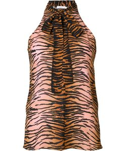 A.L.C. | Tiger Print Sleeveless Blouse 4 Silk