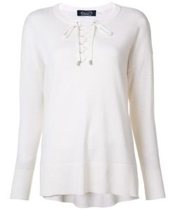 Magaschoni | Lace-Up Round Neck Jumper Medium Cashmere