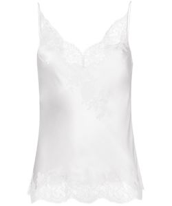 Carine Gilson | Lace V-Neck Camisole Small Silk