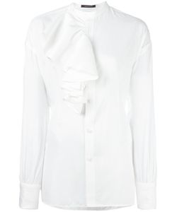 Y'S | Ruffled Detailing Blouse Small Rayon