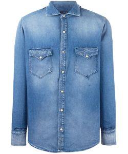 +people | Patch Pocket Denim Shirt 39 Cotton