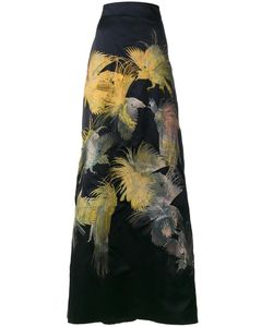 Alice Archer | Dore Bird Embroidered Maxi Skirt 10