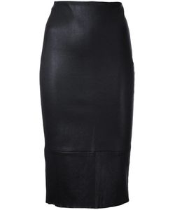 SCANLAN THEODORE | Stretch High Rise Skirt 8 Calf