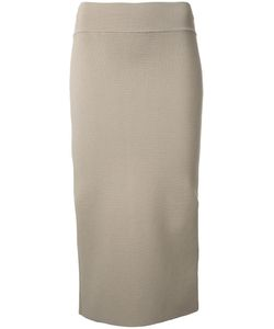 SCANLAN THEODORE | Crepe Knit Slit Back Skirt Medium