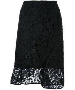 SCANLAN THEODORE | Lace Front Wrap Skirt 10 Polyamide