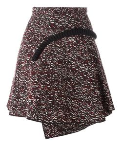 Carven | Jacquard Applique Detail Pleated Skirt 36 Polyacrylic/Polyester/Wool/Viscose