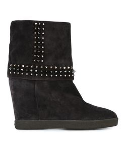 Le Silla | Concealed Platform Studded Boots 39 Suede/Leather/Rubber