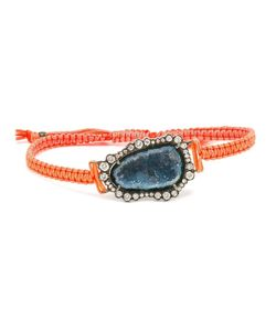 KIMBERLY MCDONALD | 18kt Dark Geode And Macramé Bracelet