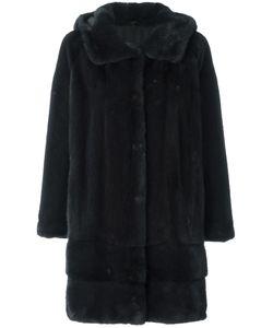 Arma | Hooded Fur Coat 38 Polyester/Mink Fur