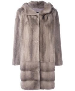 Arma | Hooded Fur Coat 34 Polyester/Mink Fur