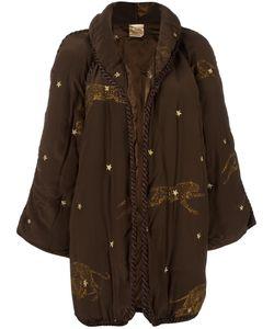 KRIZIA VINTAGE | Leopard Appliqué Padded Coat 42