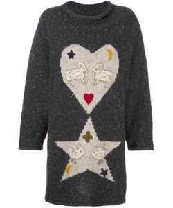 JC DE CASTELBAJAC VINTAGE | Heart Star Intarsia Knit Jumper