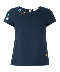 Mira Mikati | Eyelets Appliqué T-Shirt 40 Cotton