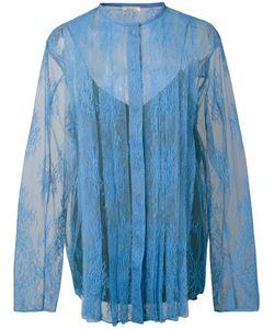 Nina Ricci | Lace Panelled Blouse 36 Polyamide/Viscose
