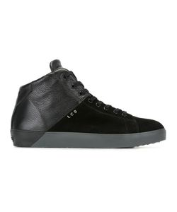 Leather Crown | Lace-Up Hi-Tops 41 Leather/Suede/Cotton/Rubber