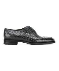 Fratelli Rossetti | Crocodile Skin Effect Oxfords 11 Leather