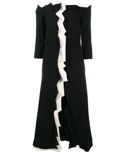 Tata Naka | Off-Shoulder Jagged Edge Dress 8 Wool/Bemberg