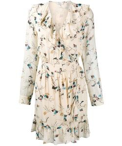 Ganni | Biscotti Leaves Print Dress 40 Viscose