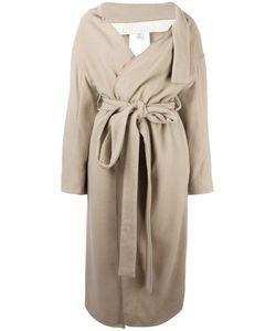 ECKHAUS LATTA | Belted Asymmetric Coat Small Wool